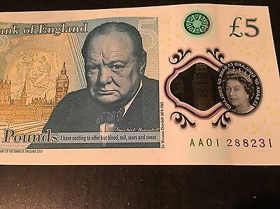 AA01 £5 Note!! *Sought After Early Print*