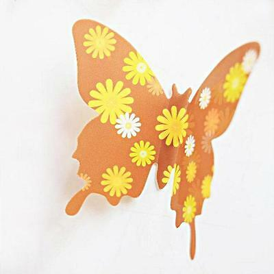 12X Removable Butterfly Wall Sticker Fridge Wedding Room Decor Decal Applique UK