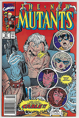 NEW MUTANTS #87 : 1st CABLE! : MARVEL COMICS 1990 : ROB LIEFELD : NICE!