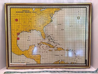 Vintage Magnetic Hurricane Tracker Map