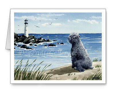 Bouvier Des Flandres at the Beach Set of 10 Note Cards With Envelopes