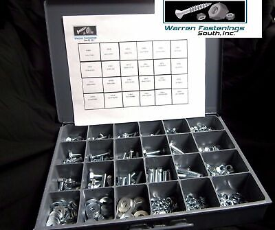 574 Pc Grade 5 Coarse Thread Nuts, Bolts, And Washers Assortment Zinc Plated