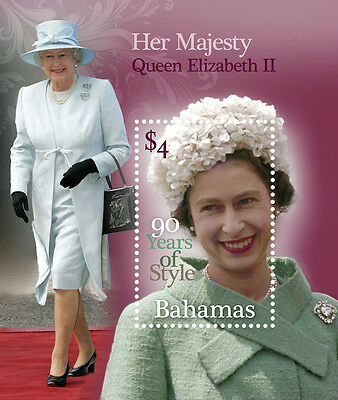 Bahamas 2016 Queens 90th Birthday 1v MS MNH