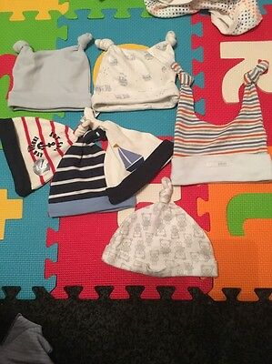 Bundle Of 7 Baby Hats Up To 3 Months Most Brand New Boys Next Pumpkin Patch