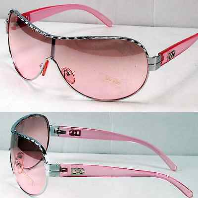 New DG Eyewear Shield Womens Designer Sunglasses Shades Fashion Pink Retro Semi