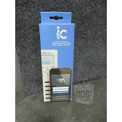iClicker 2 Remote With 6 Month REEF Polling Access Card New Sealed