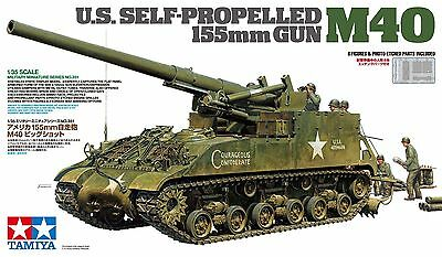 Tamiya 1/35 U.S. Self-Propelled 155mm Gun M40 # 35351