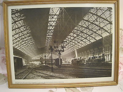Photographic print of Birmingham New Street Station year 1900 gold framed