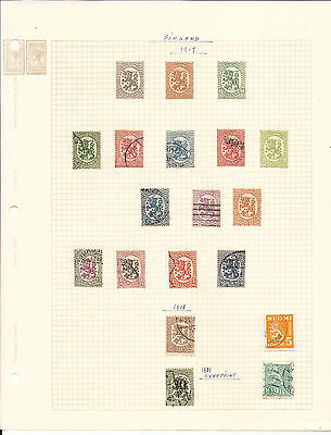 Finland. Collection Of Mint And Used On Seven Sheets