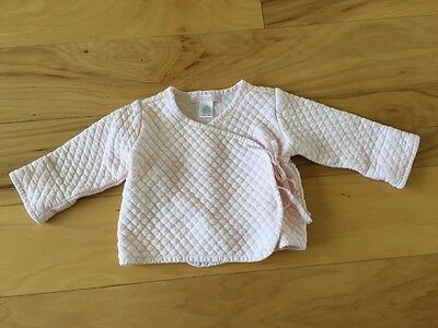 Janie and Jack quilted pink wrap jacket, size 3-6 months