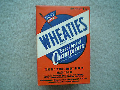 Wheaties Sample Cereal Box w/Cartoons 1949 Complete