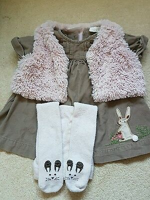 NEXT baby girls outfit dress 6-9 months