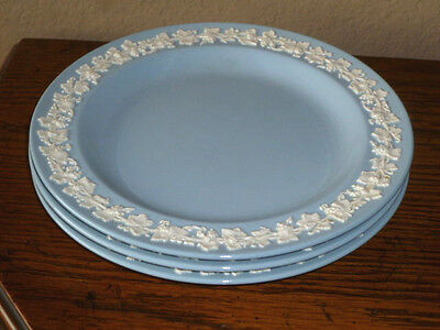 """Wedgwood Queensware Cream on Lavender 8"""" Salad Plates (Lot of 3)"""