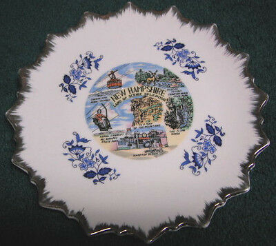 Vintage New Hampshire Souvenir Dish Man Of The Mountains Tramway Flume Sunapee