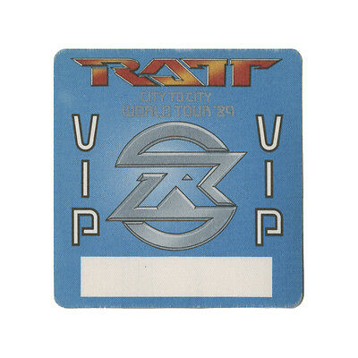 Ratt authentic VIP 1989 tour Backstage Pass