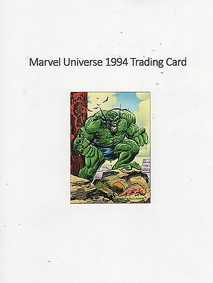 1994 Marvel Universe Trading Card #186 Universe - Abomination