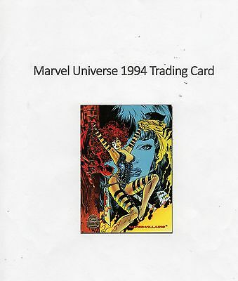 1994 Marvel Universe Trading Card #199 Universe - Typhoid Mary