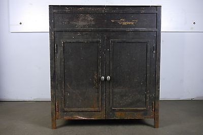 Vintage Industrial Metal Cabinet with Doors No Top or Drawer Local Pickup