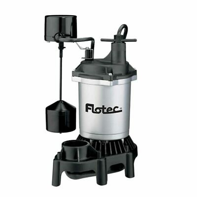 Flotec FPZS75V - 3/4 HP Thermoplastic Submersible Sump Pump w/ Vertical Float...