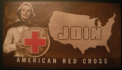 1939 Join American Red Cross Serves Humanity Fold Out Pamphlet Disaster Relief