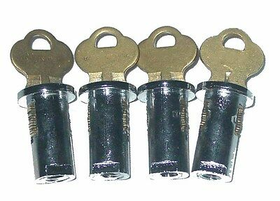 New Oak And Northwestern Gumball Vending Machine Locks - Set of 4 -Keyed Alike