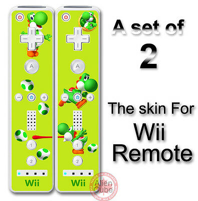 Yoshi Lemon Edition Super Mario Skin Vinyl Sticker Cover for Nintendo Wii Remote