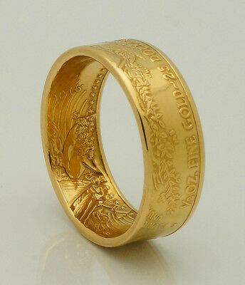 2016 1/2 oz American Eagle Gold Coin Ring 22K - Size 8-12