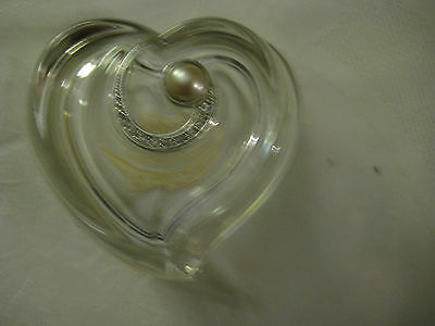 Lenox Diamonds & Pearls Heart Box Pave Jewels Crystal Collectibles