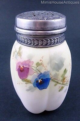 Smith Bros MELON SUGAR SHAKER muffineer - Embossed LID Insects & Flowers antique