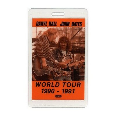 Hall & Oates authentic 1990-1991 concert tour Laminated Backstage Pass