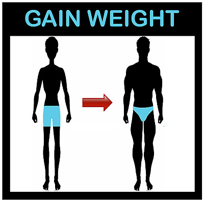 ARE YOU TOO SLIM AND WANT TO BE BIGGER! 8 Month Course of GAIN WEIGHT® Capsules