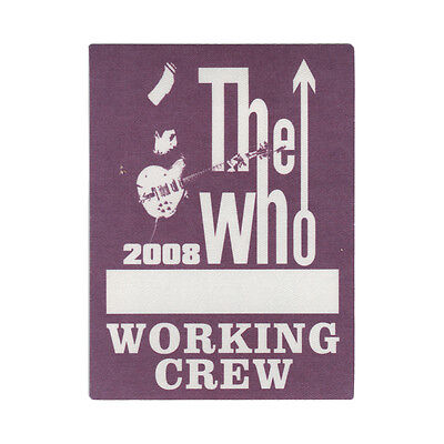 The Who authentic Working 2008 tour Backstage Pass