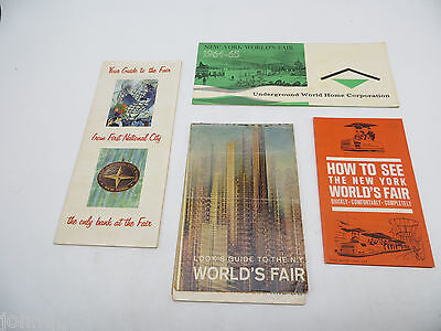 Vintage 1964 Lot of New York World's Fair Brochures and Maps