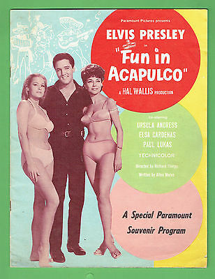 #t59.  Elvis Presley Movie Booklet - Fun In Acapulco