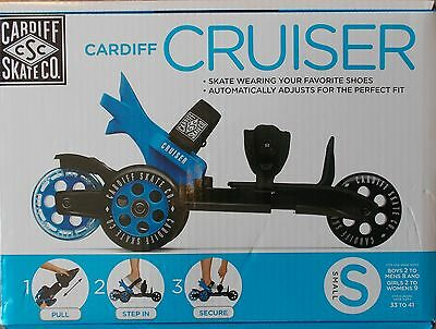Cardiff Cruiser Adjustable Shoe Skate ~ NEW Blue Small - Boys Mens Girls Womens