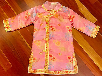 Chinese New Year Girls Silk Outfit Costume Size 12