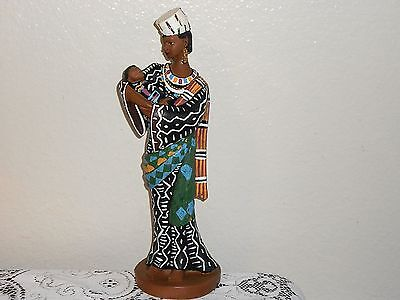 African Tribal Mother and Child Figurine UTI United Treasures 13.5""