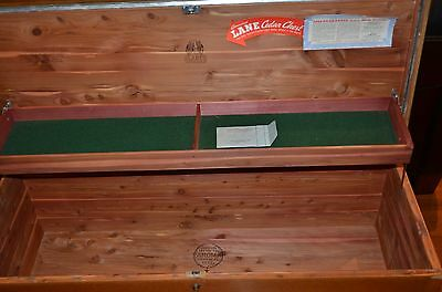 Vintage mid century LANE Hope Cedar Chest w/felt tray Trunk 1949 style 2992 OAK