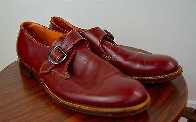 Vintage 1940s A.S. Beck Brown Monk Strap Shoes Size 11