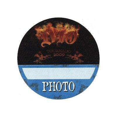 Dio authentic Photo 2009 tour Backstage Pass