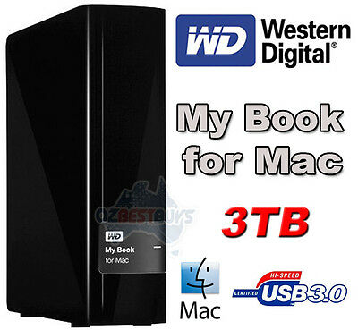 Western Digital WD My Book for Mac 3TB External Desktop USB 3.0 Hard Disk Drive
