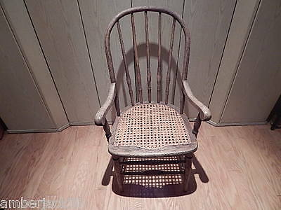 Antique Wood Caned Chair Nice Local Pick Up Only