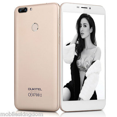 "5.5"" OUKITEL 4G Android 6.0 Octa Core 2GB 16GB 16.0MP Dual SIM Mobile Phone Gold"