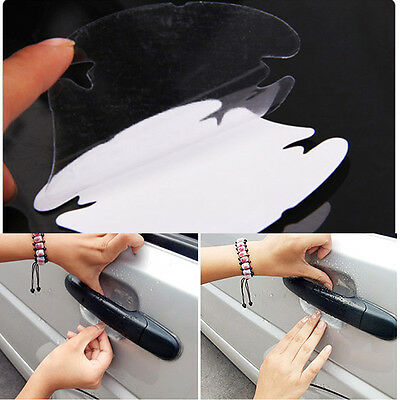 4Pcs Useful Universal Rhino Skin Car Handle Protector Sticker Invisible Films