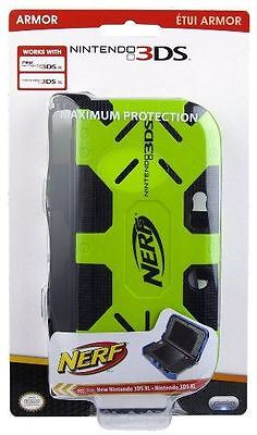 Nintendo 3DS XL NERF Armor: Green - Comfort Portable Protection Grip PDP New