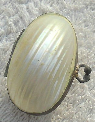 Antique Mother of Pearl Trinket Pin Box