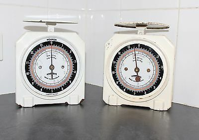 2 x VINTAGE COLLECTABLE METAL PERSINWARE 714 DOMESTIC KITCHEN SCALES
