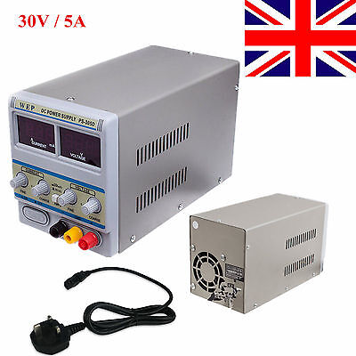 WEP-305D Variable Linear Adjustable Lab DC Bench Power Supply 0-30V 0-5A UK New