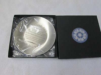 Humourous Sheffield Stainless Steel Plaque/ Dish (A Round Tuit)