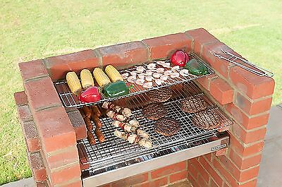 Brick BBQ Kit with Stainless Steel Grills & Cover Black Knight Brand BKB502B